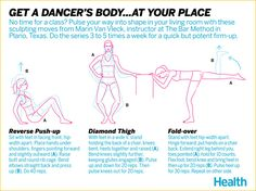 Get a Dancer's Body With These 3 At-Home Moves
