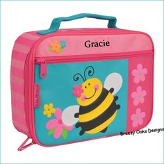 Personalized Bee, Lunchbox, School, Lunch Sac, Personalized Lunchbox, Kids Lunchbox, Lunch Box, Lunch Pal, by breezyoaksdesigns. Explore more products on http://breezyoaksdesigns.etsy.com