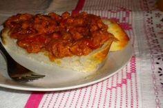 Zacusca de vinete Romanian Food, Romanian Recipes, Bruschetta, Vegetarian Recipes, French Toast, Vegan, Breakfast, Ethnic Recipes, Foods