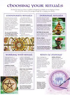 Choosing your rituals