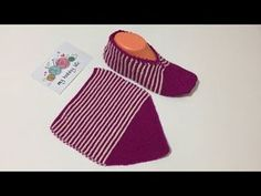 Gestrickte Booties, Knitted Booties, Knitted Slippers, Knitting Patterns Free, Free Knitting, Crochet Collar, Craft Free, Crochet Shoes, Easy Diy Crafts
