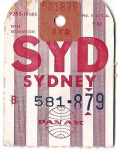 Pan Am - SYD Sydney - 1965
