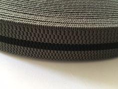 Fancy Black & Gray Striped Elastic, 1.2 in wide - 3 cm wide by NoaElastics on Etsy