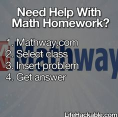 Free Help with Math Homework. Great for harder school assignments. Basic Math, Pre-Algebra, Algebra, Trigonometry, Precalculus, Calculus, Statistics, Finite Math, Linear Algebra, Chemistry.