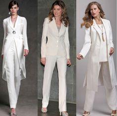 белые женские брючные костюмы на фото