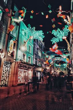 Carnaby street at Christmas in London, UK