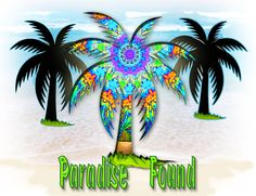 Paradise Found Tropical Tee Shirt by dswygert on Etsy