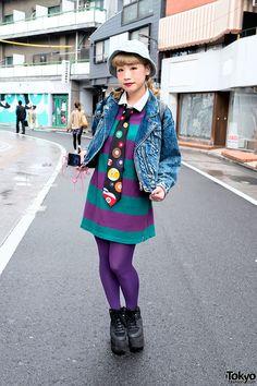 Akane, 20 years old, works at Spinns Harajuku on Takeshita Dori | 24 April 2014 |