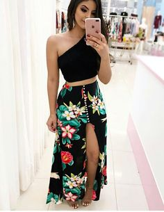 New Dress Long Summer Maxi Crop Tops Ideas Luau Outfits, Skirt Outfits, Dress Skirt, Summer Outfits, Summer Dresses, Summer Maxi, Cute Casual Outfits, Sexy Outfits, Casual Dresses