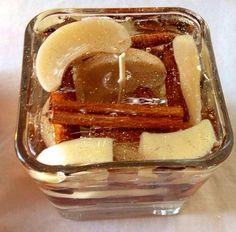 Apples & Cinnamon Gel Candle Warm Vanilla by GelbyDesignCandles