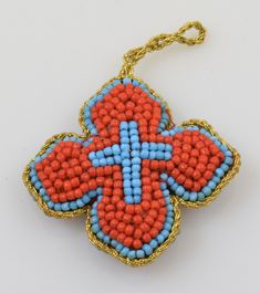 Orthodox Filakto Pendant Cross with Red Beads, Orthodox Filakto, www.Nioras.com - Byzantine Orthodox Art & Greek Traditional Products - Byzantine Christian Icons, Mount Athos Incense, Orthodox Church Supplies, Wedding Gifts, Bookstore Supplies Traditional Fabric, Amulets, Byzantine, Cross Pendant, Incense, Wedding Gifts, Greek, Christian, Christmas Ornaments