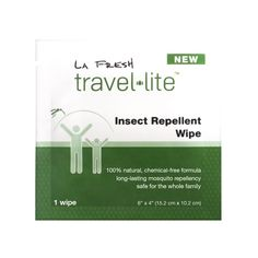 Travel Lite® Insect (Mosquito) Repellent Wipes, 200 packets