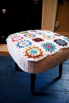Inspire Crie DECORE: Forrando peças com crochê - na decoração