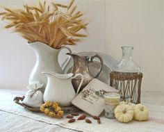 Fall means pumpkins! See 5 Perfect DIY Pumpkin Decorations to add to a table centerpiece, bookcase, coffee table and mantel for Fall and Thanksgiving! Thanksgiving Decorations, Seasonal Decor, Holiday Decor, Autumn Decorating, Pumpkin Decorating, Fall Home Decor, Autumn Home, Beltane, Fall Vignettes
