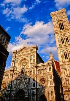 The Campanile di Giotto, or bell tower, with the best view of Brunelleschi's dome. Florence, Italy