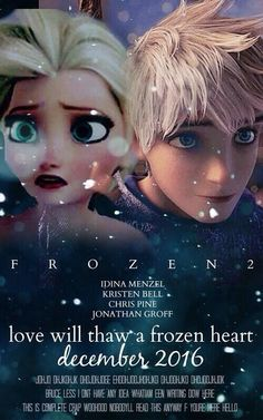 I like this poster idea. Should disney ever do create a second frozen/Elsa Jack Frost mashup, this would be perfect! Walt Disney, Disney Nerd, Disney Love, Disney Magic, Disney Frozen, Disney Stuff, Frozen Frozen, Frozen Heart, Let It Go