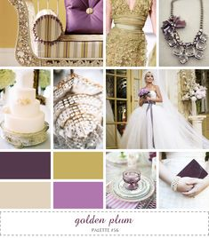 inspiration board - golden plum  ..more of a pinkish/reddish purple, but i like the golds/champagne