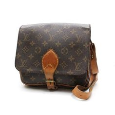 Louis Vuitton Cartouchiere Monogram Cross body bags Brown Canvas M51253