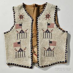 Lakota Beaded Hide Man's Vest. | Auction 2893B | Lot 141 | Sold for $2,583