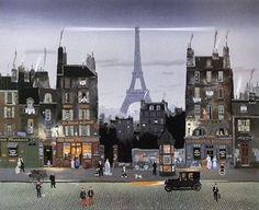 Tour Eiffel le Soir by Michel Delacroix