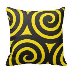 Cojín Yellow Spiral Pillow