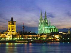 Rhein River Aflame Cruise,Germany.