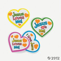 """Jesus Loves Me"" Heart Magnet Craft Kit"