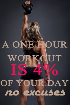 A One Hour Workout Is 4% Of Your Day No Excuses