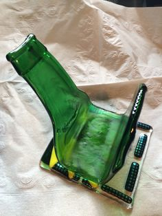 A personal favorite from my Etsy shop https://www.etsy.com/listing/230746263/reserved-fused-recycled-glass-bottle