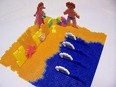 3D Beach Scene hama beads