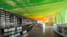 Image 29 of 46 from gallery of Metal Rainbow-Zhongshu Bookstore in Suzhou / Wutopia Lab. Photograph by CreatAR (AI Qing, MAO Yingchen, SHI Kaichen) Monopole, Interior And Exterior, Interior Design, Suzhou, Commercial Architecture, Design Lab, Commercial Design, Steel Frame, Magazine Design