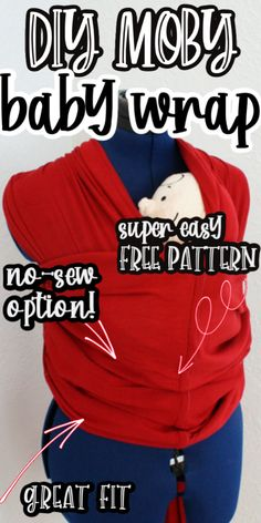 How to make a Moby wrap baby carrier free pattern with no sew option. Works great we had a real one and this just as good and way cheaper! via @raegun
