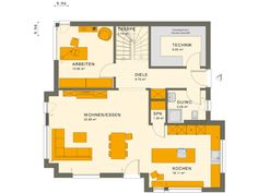 Mediterranes Traumhaus SUNSHINE 167 V6 - | HausbauDirekt.de Algebra Interactive Notebooks, Living Haus, Floor Plans, Bohemian Style, Interior, Sunshine, Floor Layout, Duplex House, Modern Bungalow