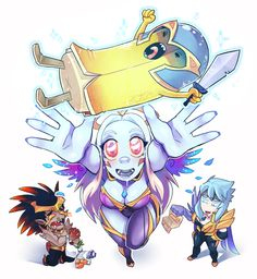 Soraka Family by on DeviantArt League Of Legends Support, League Of Legends Comic, League Of Legends Characters, Fictional Characters, League Memes, Overwatch Comic, Female Anime, Funny Stories, Funny Games