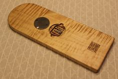 Beautiful 3 Track Cribbage Board. Solid Figured by SkagitWoodWorks
