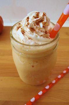 Pumpkin & Cream Frappe: 1C Unsweet Coconut Milk, 2Tbsp Pumpkin 1/2Tsp Vanilla, 1/4Tsp Pumpkin Spice, 1Tsp Stevia, 5 Ice Cubes, 2Tbsp Whip Cream, 1 Dash Cinnamon. In a blender add Coconut Milk, Pumpkin, Vanilla, Pumpkin Spice, Stevia and Ice Cubes. Blend smooth. Pour into a glass & top with whip cream & sprinkle Cinnamon.