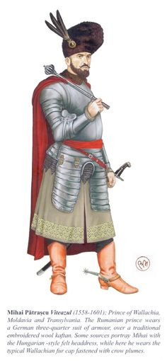 Michael the Brave History Of Romania, Romania People, Les Balkans, Turkey History, Arm Armor, Medieval Clothing, Medieval Fantasy, Military History, World History