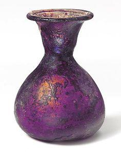 Glass perfume bottle ~ Roman 1st Century A.D.