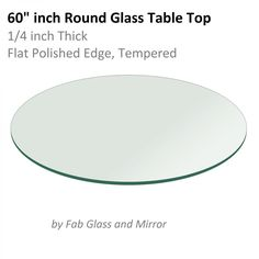 "60"" inch Round Glass Table Top"
