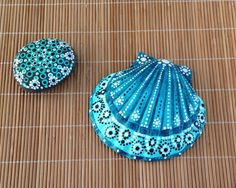 Hand Painted Scallop shell.   Etsy