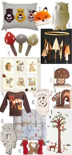 "Woodland Nursery - all previous pinners call this theme ""boy"" but I think it's unisex."