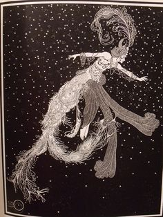 Comet ladies drift dreamingly about the sky. Illustration by American artist, Dugald Stewart Walker for Dream Boats and Other Stories Illusion, Boat Illustration, Aubrey Beardsley, Artist Biography, Black And White Illustration, Design Graphique, Rose Buds, Cool Artwork, Illustrators