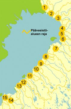 The Ostrobothnian region in Finland and its rivers, link | Pohjanmaan joet löydät tästä kuvalinkistä. Ne ovat :