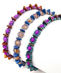 Free PDF - CzechMates Triangle bead pattern: Triple Crown by TrendSetter Nichole Starman. #Seed #Bead #Tutorials