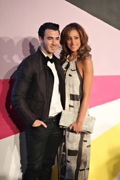 Danielle Jonas looking beautiful in a+o with her hubby Kevin