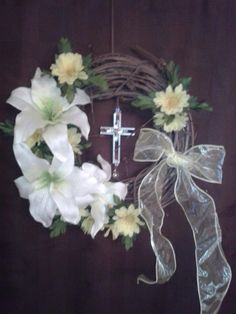 Religious+Easter++Wreath+by+archibaldbc+on+Etsy,+$45.00