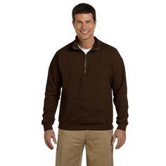 Gildan Men's Vintage Classic Quarter-Zip Cadet Collar Russet Sweatshirt