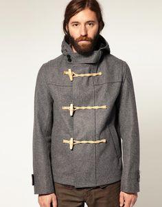 melton wool cropped duffle coat.