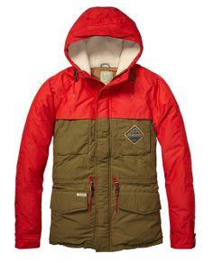 Colour Block Down Jacket  Mens Clothing  Jackets at Scotch  Soda
