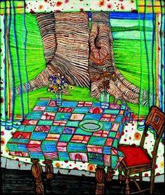 Reproduction de Hundertwasser, Island of lost desire Friedensreich Hundertwasser, Norman Rockwell, Mondrian, Kandinsky, Crochet Stitches Free, Free Crochet, Art Et Architecture, Art Ancien, Unique Crochet